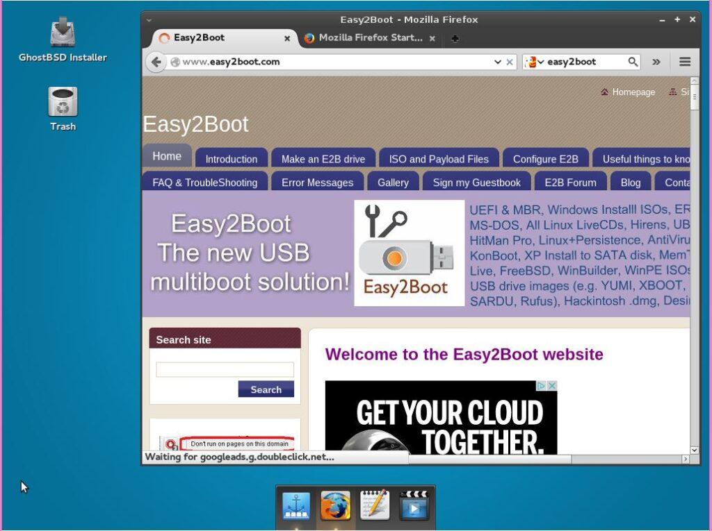 GhostBSD4.0 Desktop